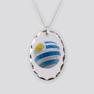 Uruguay World Cup Ball Necklace Oval Charm
