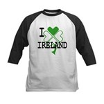 I love Ireland Shamrock Kids Baseball Jersey