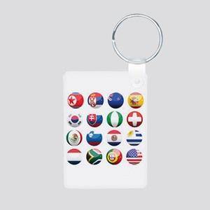 World Cup Soccer Balls Aluminum Photo Keychain