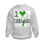 I love Ireland Shamrock Kids Sweatshirt