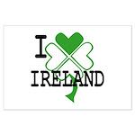 I love Ireland Shamrock Large Poster