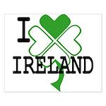 I love Ireland Shamrock Small Poster