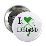 "I love Ireland Shamrock 2.25"" Button (100 pack)"