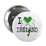 "I love Ireland Shamrock 2.25"" Button (10 pack)"