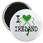 I love Ireland Shamrock Magnet