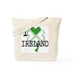 I love Ireland Shamrock Tote Bag