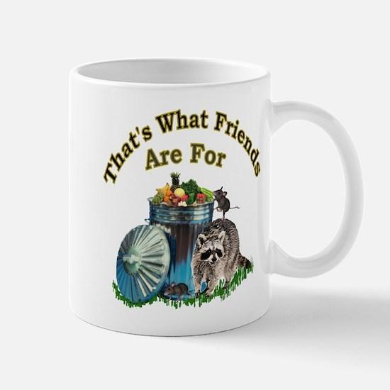 Racoon Friends Mug
