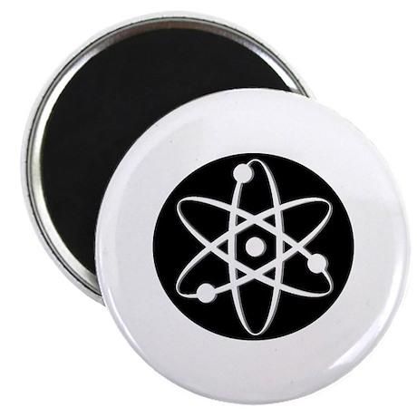 """Atom - White 2.25"""" Magnet (100 pack)"""