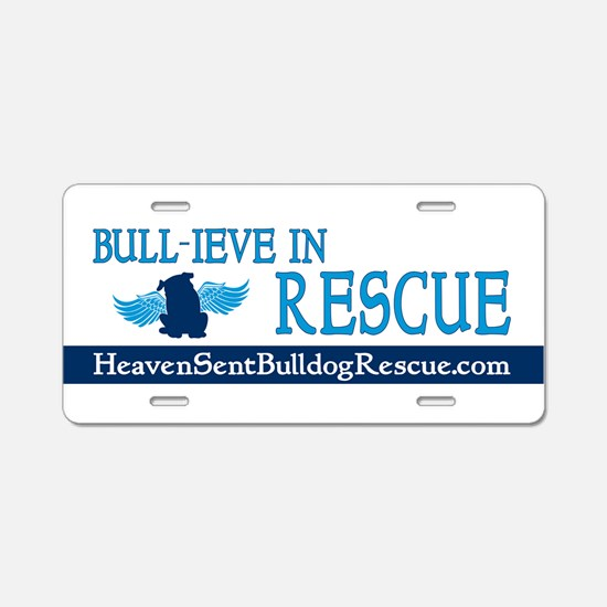 Funny Bull Aluminum License Plate