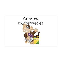 Monkey Creates Masterpieces 38.5 x 24.5 Wall Peel
