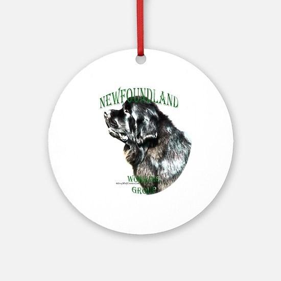 Newf 2 Ornament (Round)