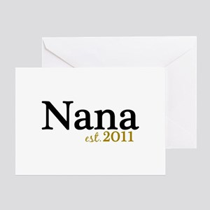 New Nana Est 2011 Greeting Card