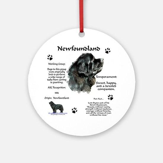 Newf 1 Ornament (Round)