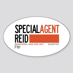 Special Agent Reid Criminal Minds Sticker (Oval)