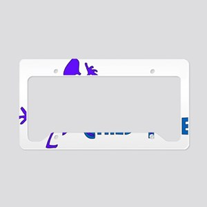Happily Child-Free License Plate Holder
