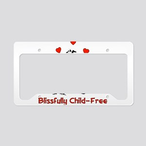 Blissful Child-Free Couple License Plate Holder