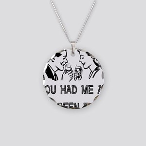 Child-Free Turn On Necklace Circle Charm
