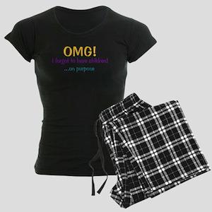 Forgot To Have Children Women's Dark Pajamas