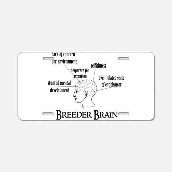 Breeder Brain Aluminum License Plate