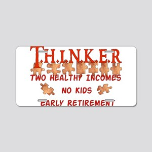 Child-Free Thinker Aluminum License Plate
