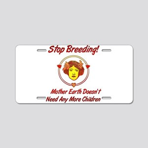 Stop Overpopulation Aluminum License Plate