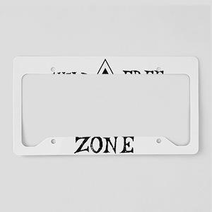 Child-Free Zone License Plate Holder