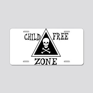 Child-Free Zone Aluminum License Plate