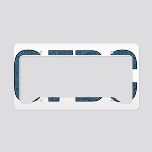 CFBC Blue Logo License Plate Holder