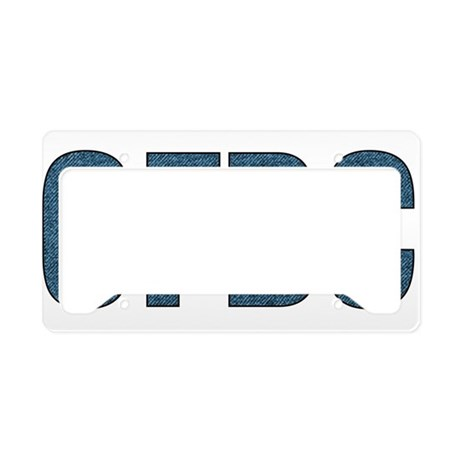 cfbc blue logo license plate holder by childfree