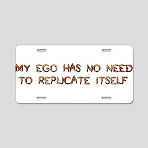 No Breeder Ego Aluminum License Plate