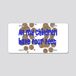 Four-Footed Children Aluminum License Plate