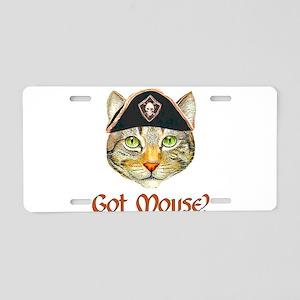 Got Mouse? Aluminum License Plate