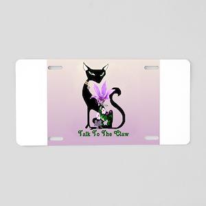 Cat Claw Aluminum License Plate