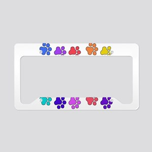 Rainbow Cat Paws License Plate Holder