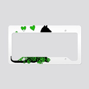 Love Me Love My Cat License Plate Holder
