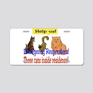 Emergency Stickers Aluminum License Plate