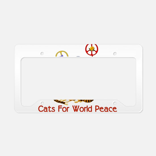 World Peace Cats License Plate Holder