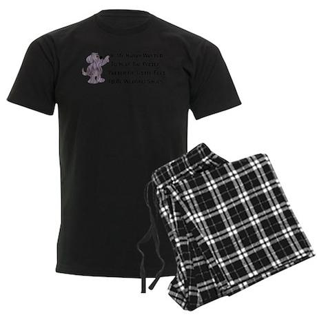 Child-Free Puppy Dog Men's Dark Pajamas