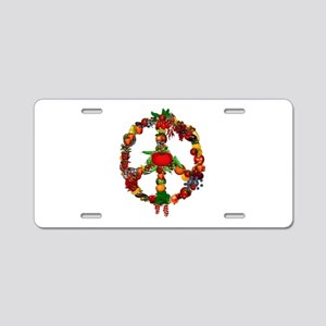 Veggie Peace Sign Aluminum License Plate