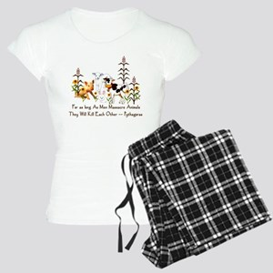 Pythagoras Vegetarian Quote Women's Light Pajamas