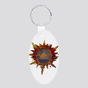 Recovery NOW! Aluminum Oval Keychain