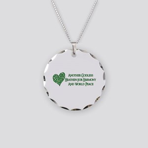 Godless For World Peace Necklace Circle Charm