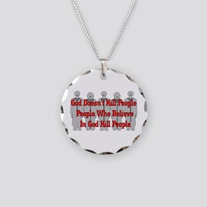 Religious Crazies Necklace Circle Charm