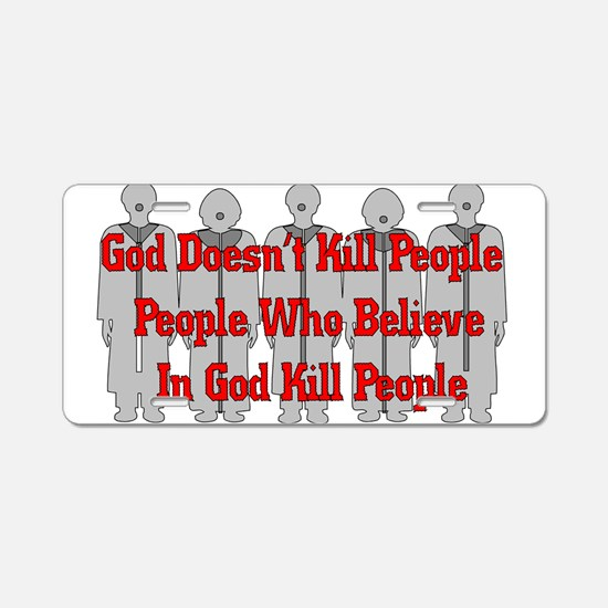 Religious Crazies Aluminum License Plate