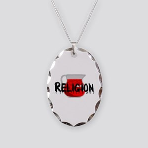 Religion Brainwashing Drink Necklace Oval Charm