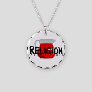 Brainwashing Drink Necklace Circle Charm