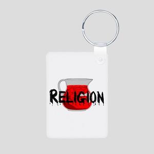 Religion Brainwashing Drin Aluminum Photo Keychain