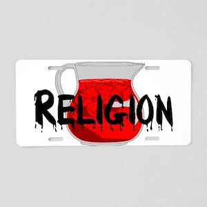 Brainwashing Drink Aluminum License Plate