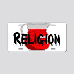 Religion Brainwashing Drink Aluminum License Plate