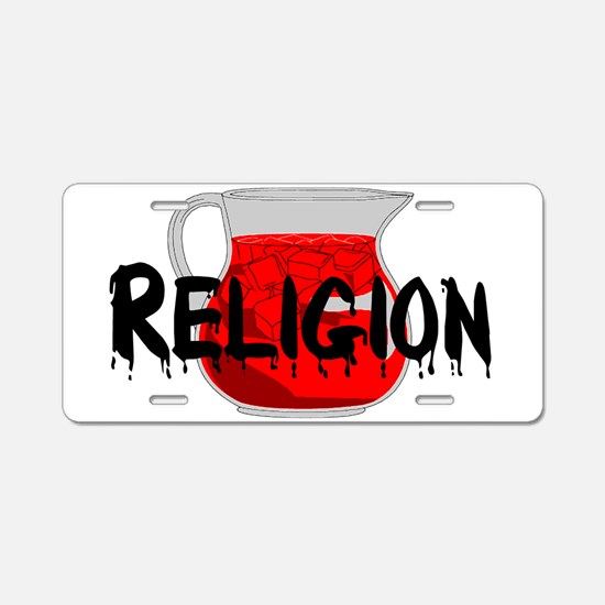 Brainwashing Drink Aluminum License Plate